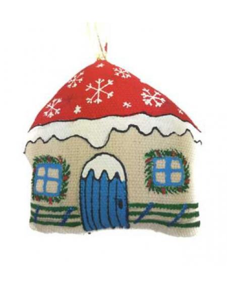 Зимний домик со снежинками