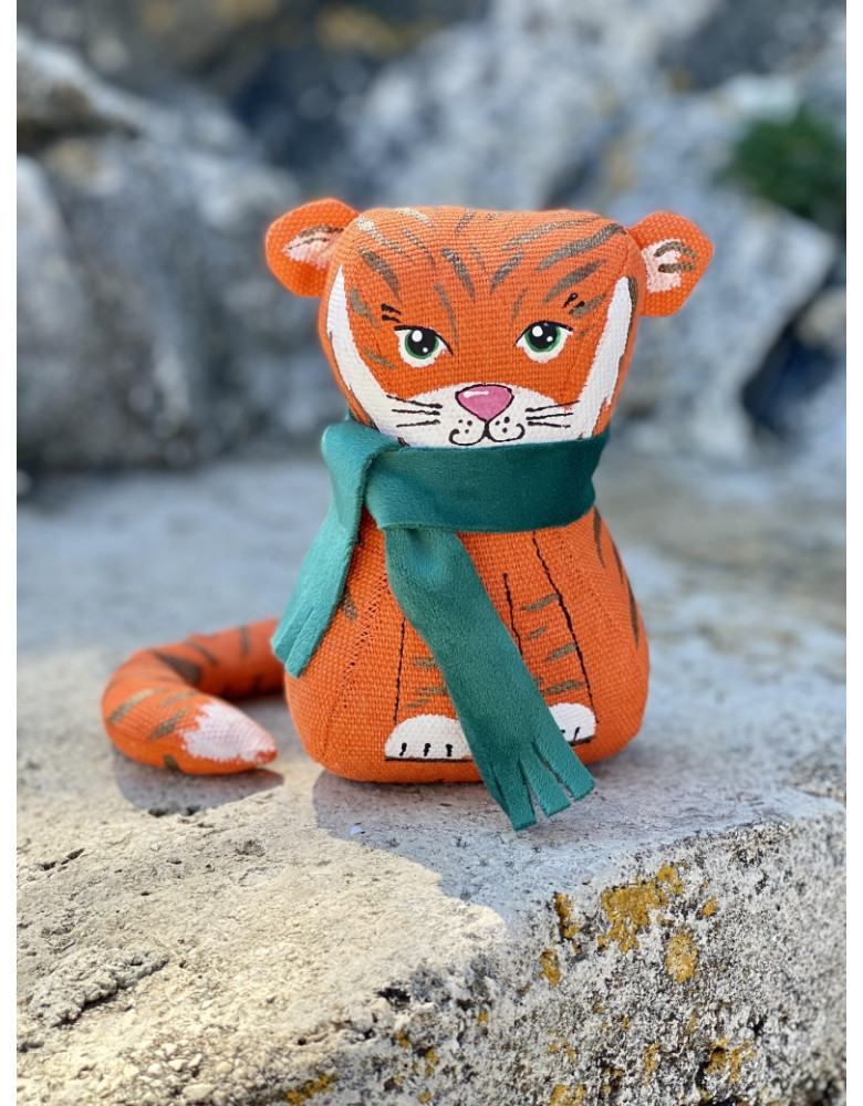 Symbol of the year 2022 Tiger in a scarf