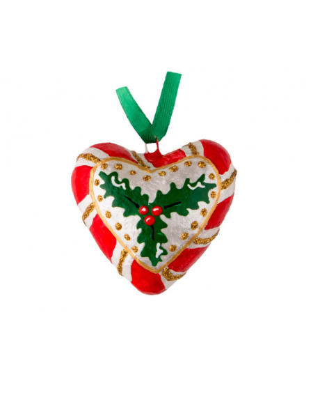 Heart with Christmas flower