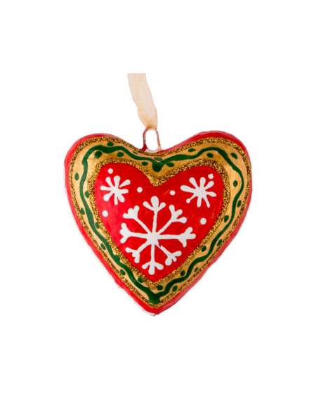Christmas heart with snowflakes