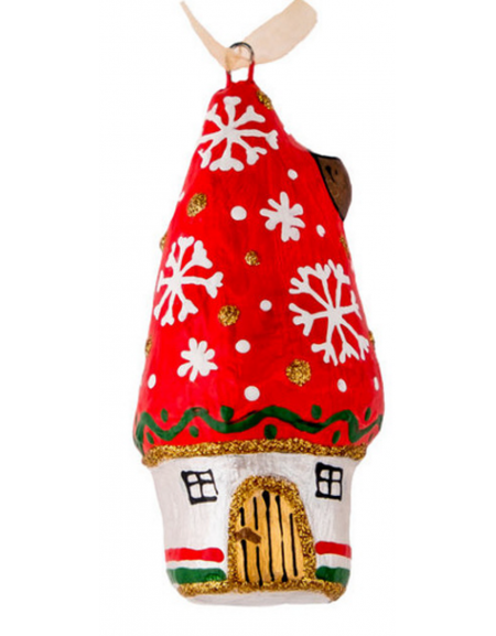 Christmas hut with snowflakes