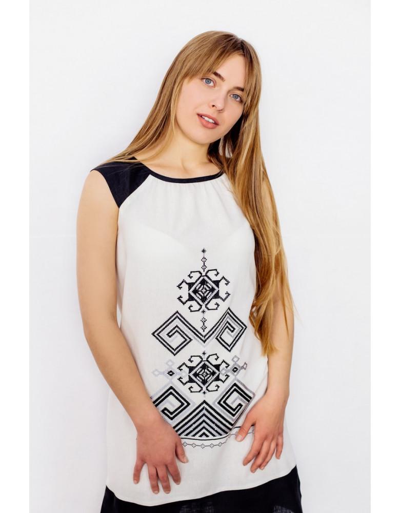 White Linen Dress Bezkinechnyk