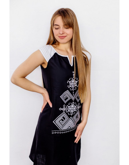 Black Linen Dress Bezkinechnyk