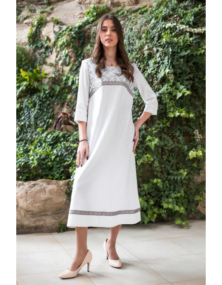 White linen dress Lileia