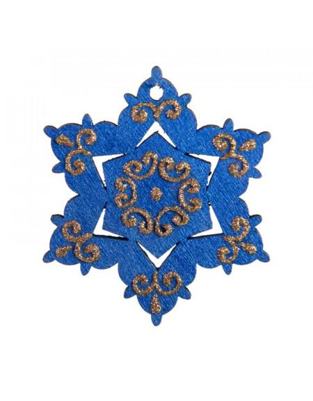 Big Blue Snowflake