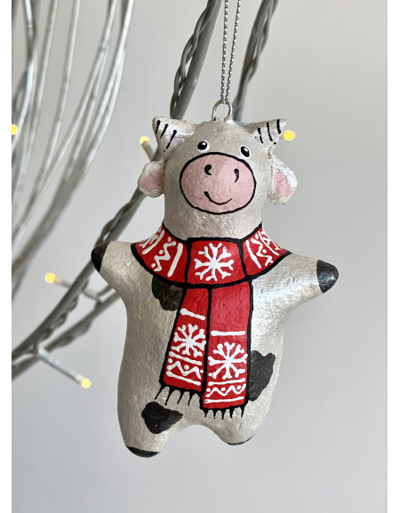 Cow in a red scarf