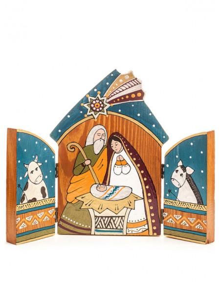 Wooden nativity scene 'Lodge'