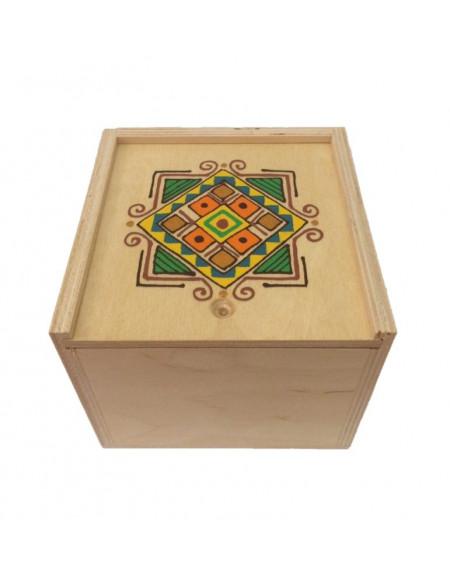 Коробка 14*14 з фанери світла графічна