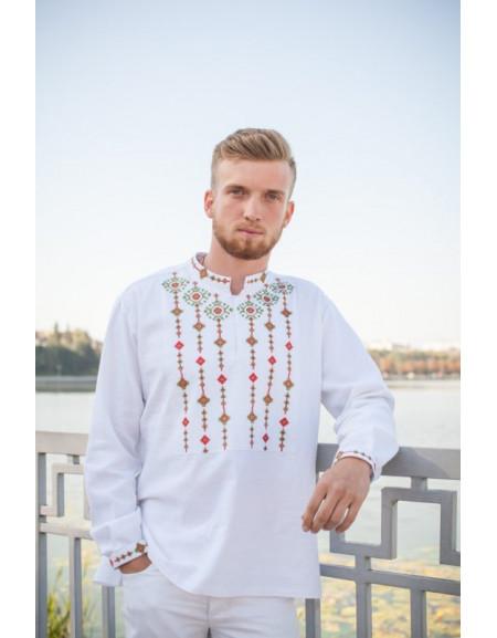 Men's shirt 'Infinity' (white linen)