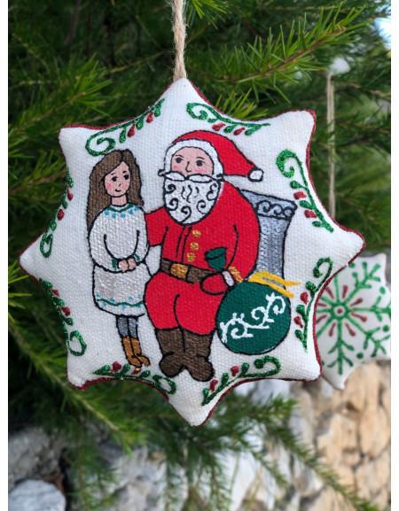 Vanilla Christmas Star «Girl & Santa»