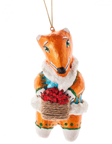 Fox with a Basket of Raspberries