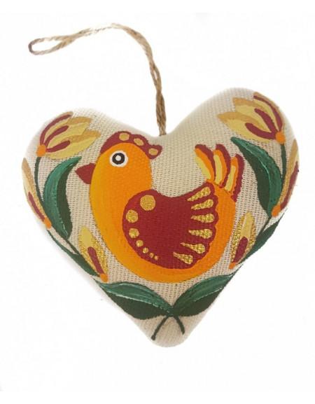 Vanilla heart with orange bird