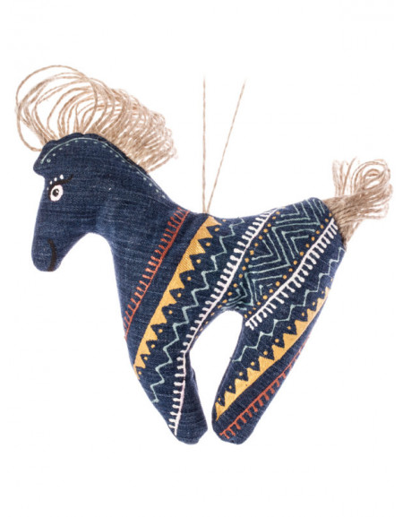 Graphic Denim Horse
