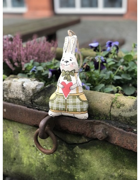 Hare in bow-tie with a heart