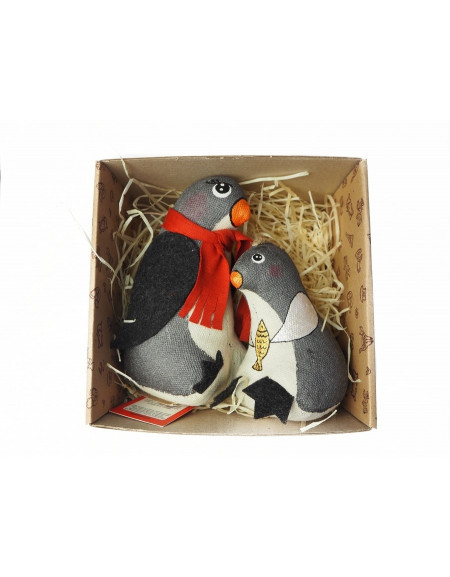 Set «Penguin mom with kid «