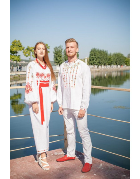 Twin shirts 'Infinity' (white linen)