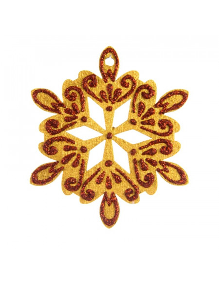 Medium Golden Snowflake
