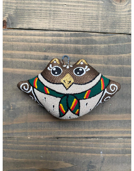 Keychain 'Owl in a Scout Neckerchief'