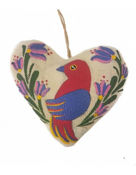 Vanilla heart with pink bird
