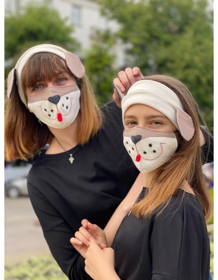 Mask & Headband Set 'Dog'