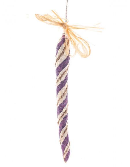 Бурулька «Фіолетово-срібна спіраль»