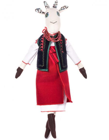 Коза в украинском костюме