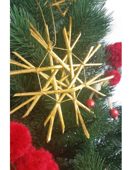 Golden Wicker Snowflake