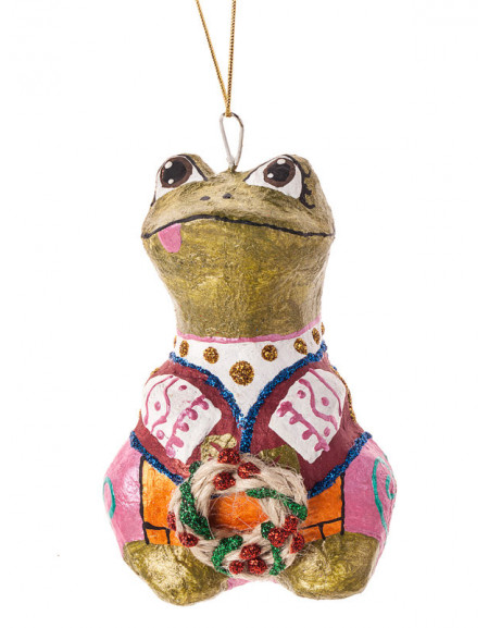 Frog with a Wreath