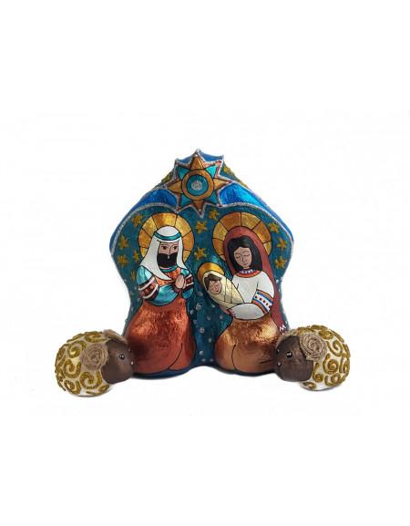 Шопка скульптурна» Композиція «Свята родина» і 2 вівці»