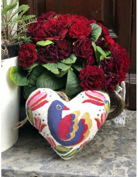 Vanilla heart with purple bird
