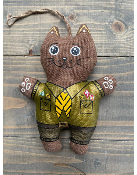 Cat in a Scout Uniform