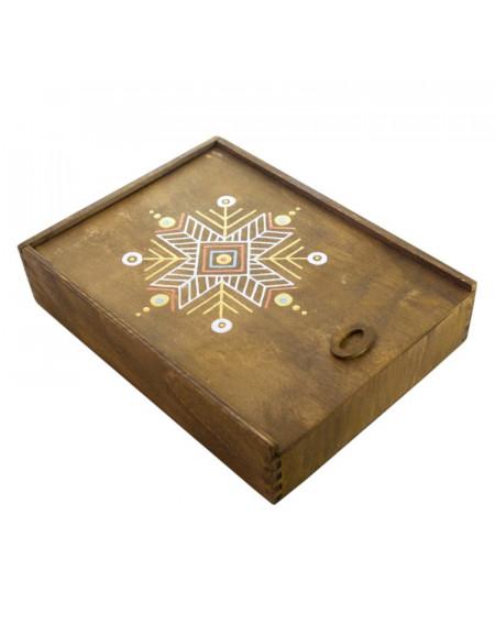 Коробка фанерна декорована з висувною кришкою