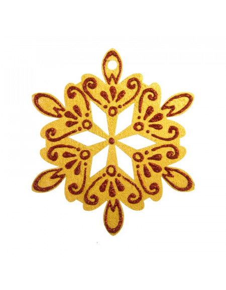 Small Golden Snowflake