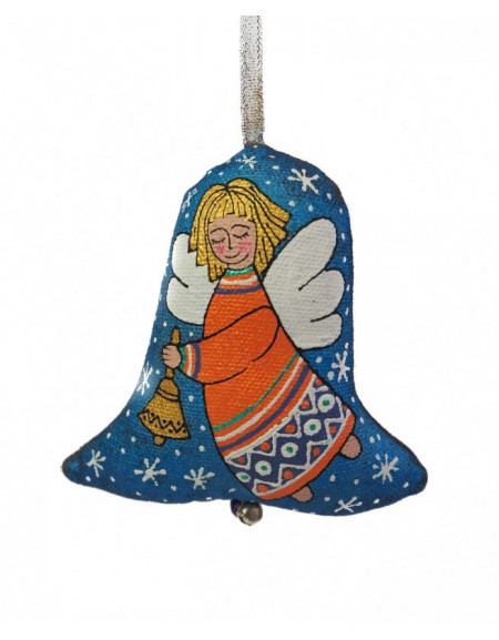 Textile bell Angel with a bell