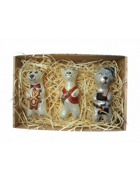 Set of bears (with fish, skates and a bear)