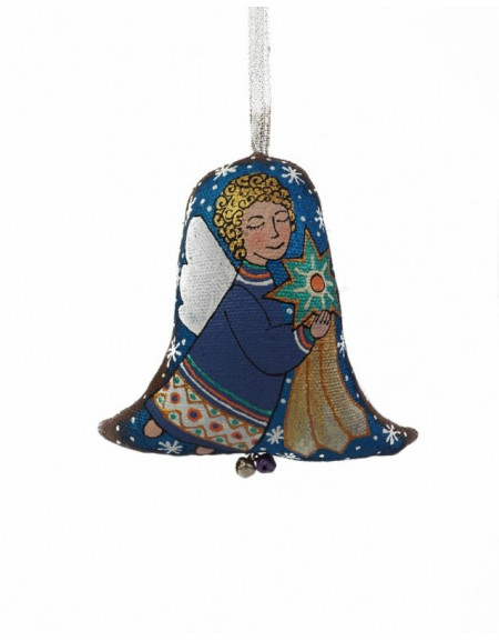 Textile bell Angel with a star