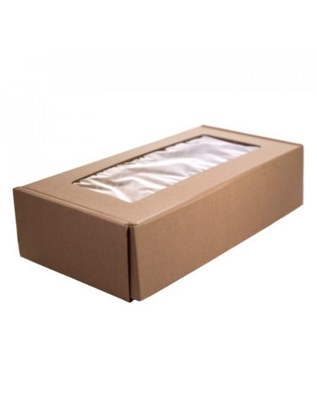 Cardboard box with a window (28×14сm)