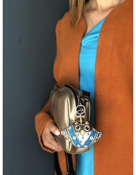 Keychain «Owl in a Blue Kerchief»