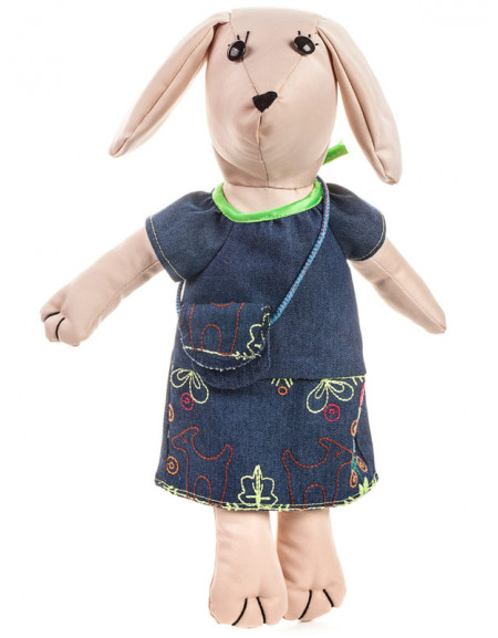 Textile dog-girl