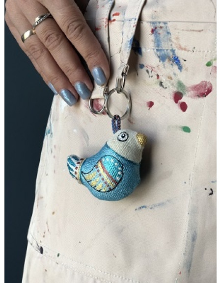 Keychain «Blue Sparrow»