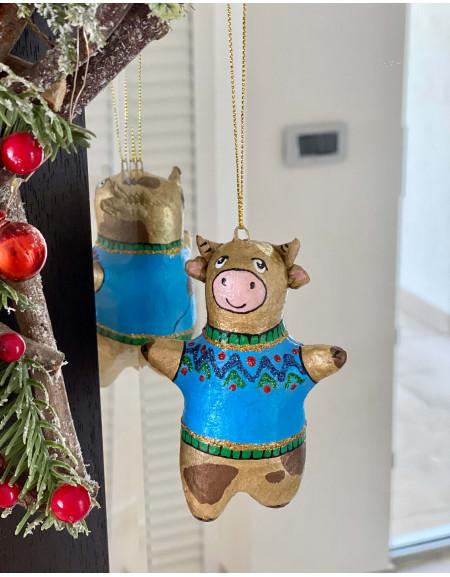 Bull in a Blue Sweater