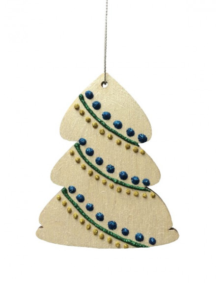 Silver Painted Christmas Tree