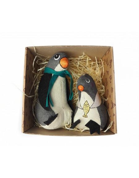 Set «Penguin dad with kid»