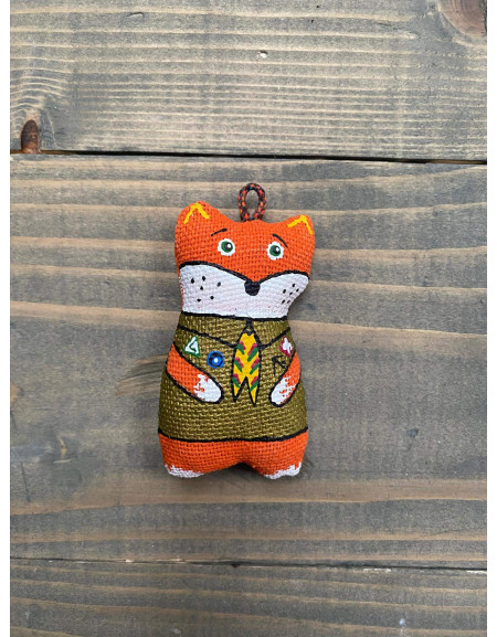 Keychain 'Fox in a Scout Uniform'