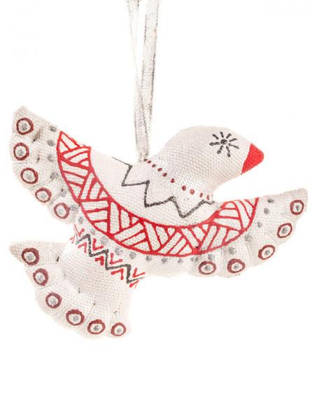 Жар-птиця сріблясто-червона