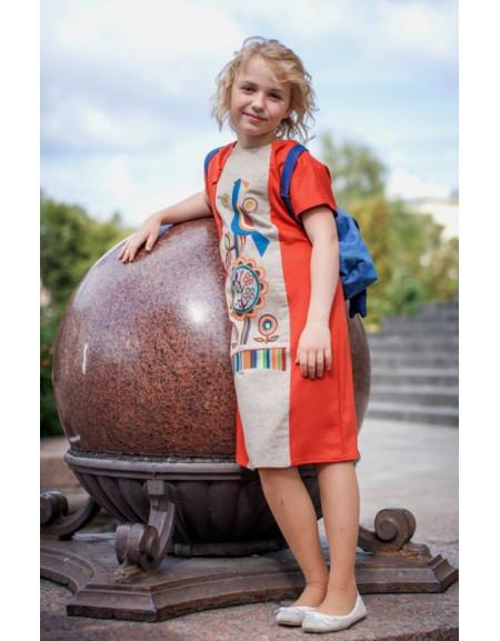Сукня дитяча «З пташкою»