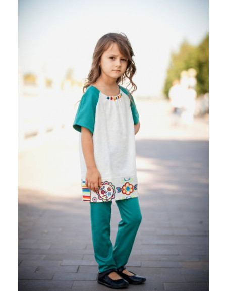 Girls' tunic «With Embroidered Bottom»