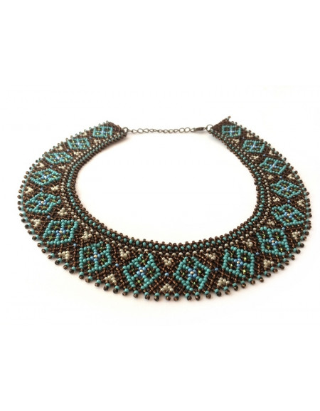 Beaded Necklace (dark turquoise)