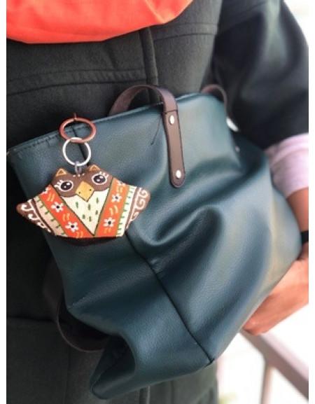 Keychain «Owl in an Orange Kerchief»