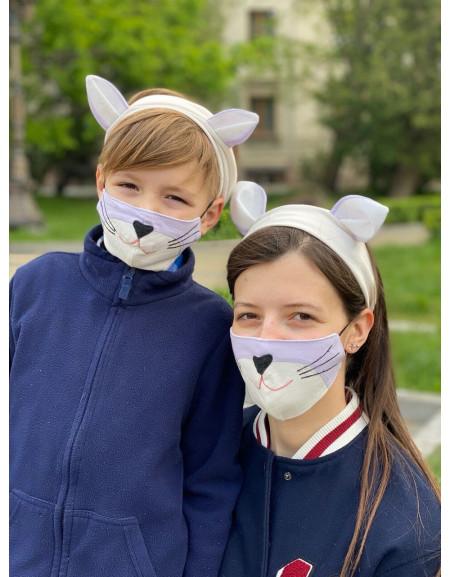 Mask & Headband Set 'Cat'